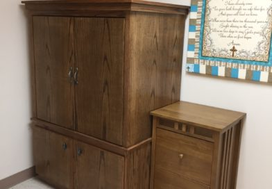 Oak File Cabinet & Entertainment Center