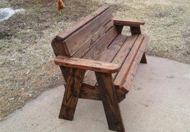 Redwood Garden Bench