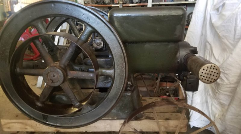 hit miss gas engine 20190305 163818 800x445 - Old Hit & Miss Gas Engine from Historic Elyria, KS Elevator