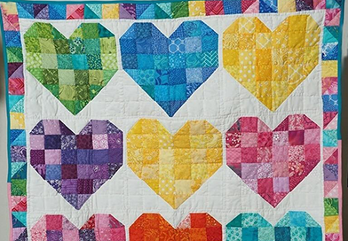 california quilt hearts 392x272 - Visit the Online California MCC Quilt Auction this Saturday, July 18!