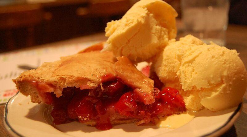800px Cherry pie with ice cream 800x445 - Burgers & Ice Cream & Pie, Oh My!