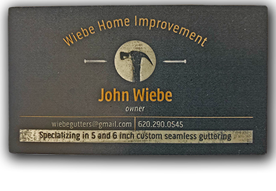 Residential Seamless Guttering by Wiebe Home Improvement to be Auctioned Off